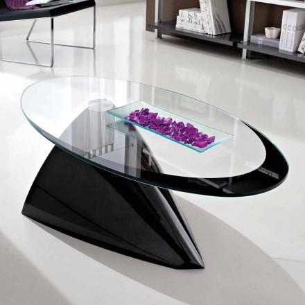 Soffbord med glasskiva med tillverkad i Italien silketryck - Campari