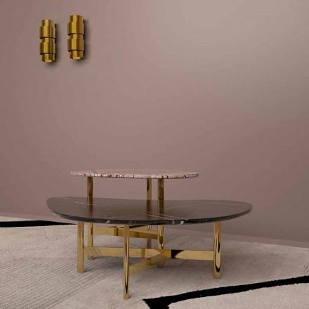 Lyxigt soffbord i svart marmor eller skogsbrunt tillverkat i Italien - Manolo