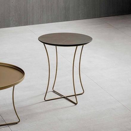 Soffbord i målad metall med Hpl-topp tillverkad i Italien - Numbo