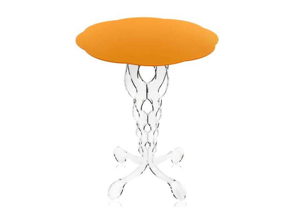 Apelsin Round Table Modern diameter 36 cm Janis, tillverkad i Italien