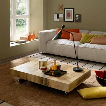 Omvandlande soffbord i trä och svart metall Tillverkad i Italien - Niverio