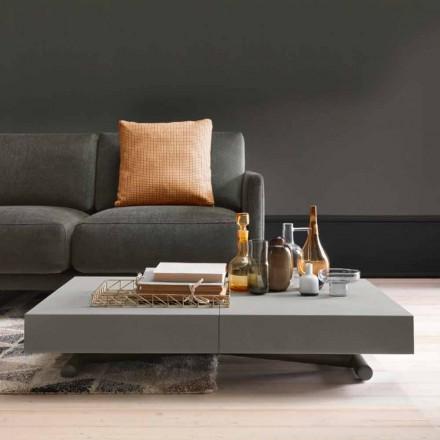 Modernt transformerande soffbord med Malta Effect Top tillverkad i Italien - Patroclo