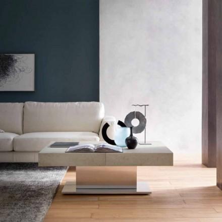 Modernt omvandlingsbart soffbord, morteleffekt Top Made in Italy - Salomon