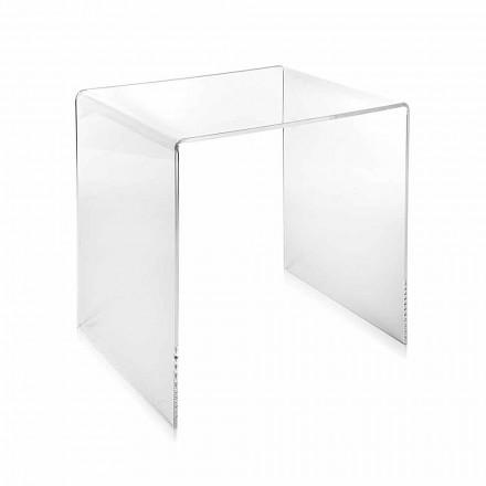 transparent modern design soffbord 40x40cm Terry Small, tillverkade i Italien