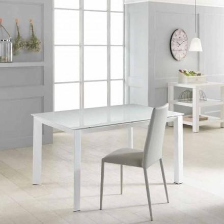 Utdragbar bord med härdat glasskiva Vinicio