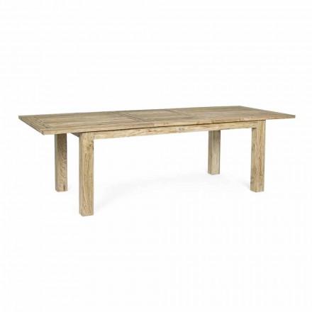 Förlängningsbart trädgårdsbord till 260 cm i trä, 8 platser Homemotion - Gismondo