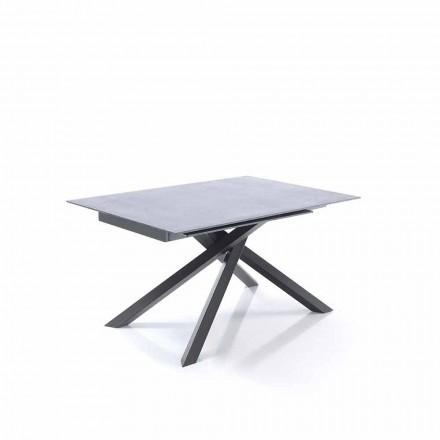 Utdragbart matbord i glas och metall - Tristano