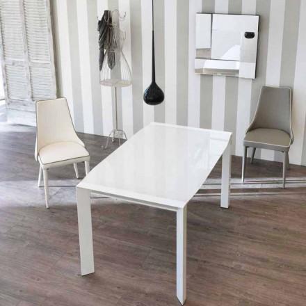 Utöka bord modern design med topp Vetro Zeno