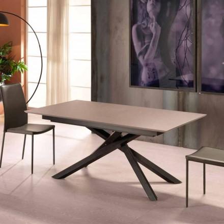 Utdragbar designbord med metallben, Lucera