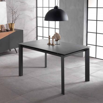 Utdragbar designbord med keramisk topp och mdf, Nosate