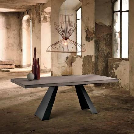 Utdragbar designbord i ekträ tillverkad i Italien Zerba