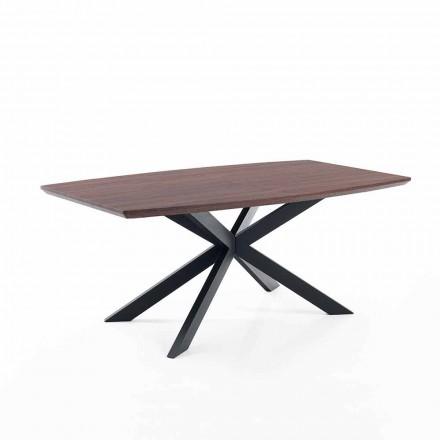Design utdragbart bord i Mdf och metall - Torquato