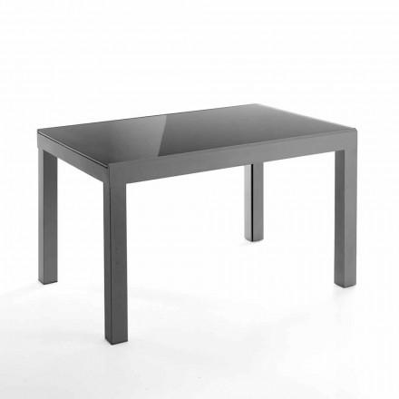 Design utdragbart bord i glas och metall - Guerriero