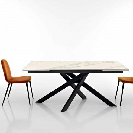 Utbyggbart designbord i glaskeramik tillverkat i Italien, Dionigi