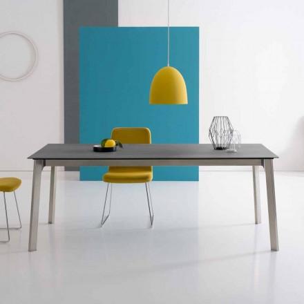 Design förlängbart bord i aluminium, tillverkat i Italien - Arnara