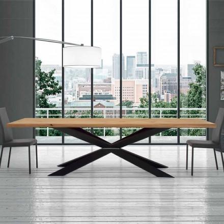 Utdragbart bord upp till 14 sittplatser i panelerat bord tillverkat i Italien - Grotta