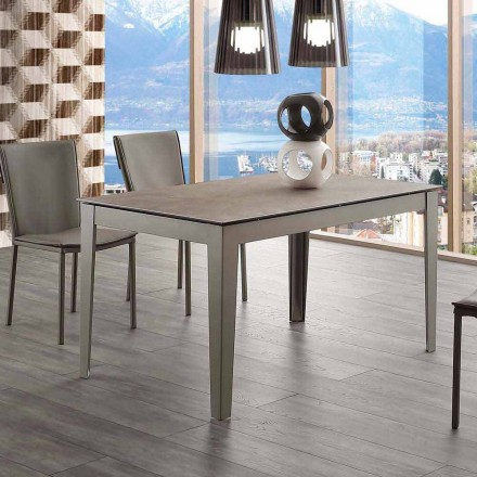 Utdragbart glaskeramik och metall Cagliari bord upp till 380 cm