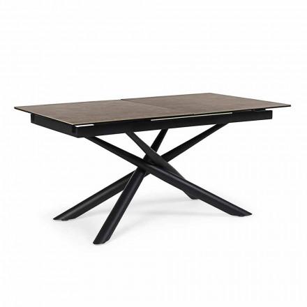 Utdragbart bord Upp till 220 cm i keramik och stål Homemotion - Brianza