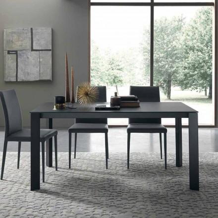 Utdragbart bord Upp till 250 cm med glastopp Made in Italy - Pitagora