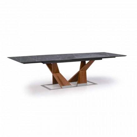 Utdragbart bord Upp till 294 cm med topp i Gres Made in Italy - Monique