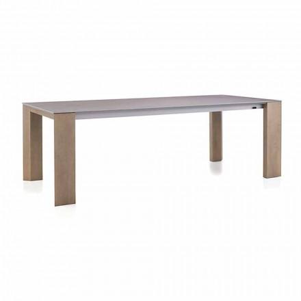Utdragbart bord Upp till 300 cm i ben av keramik och trä - Ipanemo