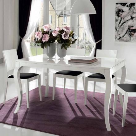 Utdragbart bord upp till 350 cm i glansvit Tanganika valnöt - Leomas