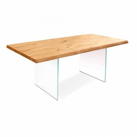 Utdragbart bord i ekfaner med Nico glasben