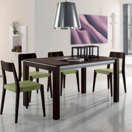 Förlängningsbart bord i askträ med sidoband målade grått - Ketla