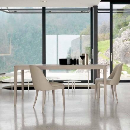Tabell träbord naturliga valnöt grå modern design Matis
