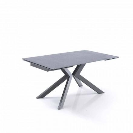 Design utdragbart bord i glas och metall - Piersilvio