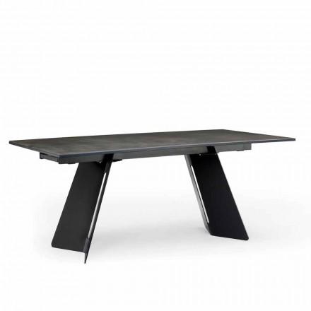 Modernt utdragbart bord med stengods topp tillverkad i Italien, Erve