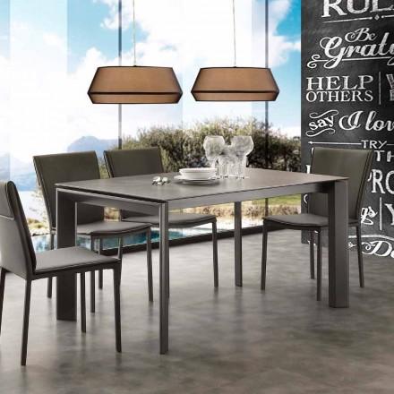 Modern utdragbar bord med keramisk glasskiva Philadelphia