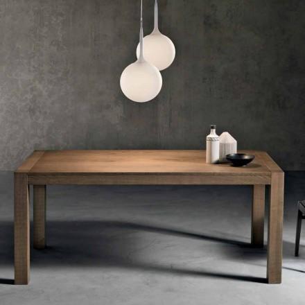 Modernt utdragbart askträbord tillverkat i Italien Parre