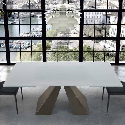 Modernt utdragbart bord i 14 och 14 platser tillverkade i Italien - Dalmata