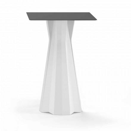 Högt bord med Hpl-topp och polyetenbotten Tillverkad i Italien - Tinuccia