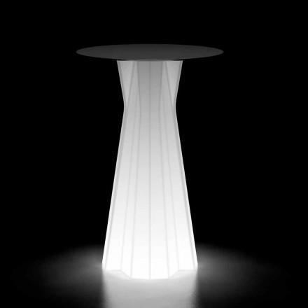Utomhus högt bord med lysande bas och Hpl-topp Tillverkad i Italien - Tinuccia