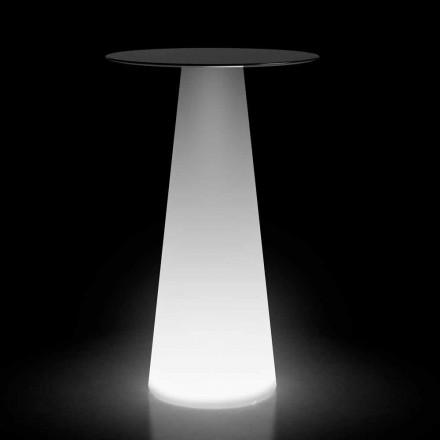 Utomhus högt bord med LED-ljus i HPL och polyeten Tillverkad i Italien - Forlina