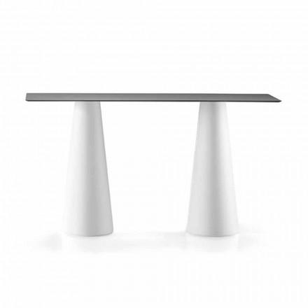 Utomhus högt bord med rektangulär topp i Hpl tillverkad i Italien - Forlina