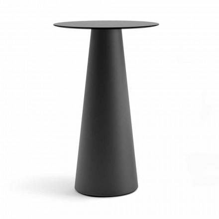 Utomhus högt bord med rund topp i Hpl Made in Italy - Forlina