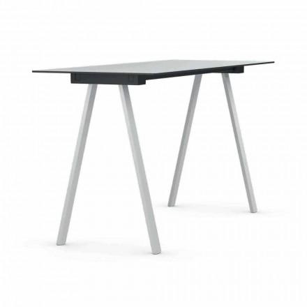 Högbord utomhus i metall och rektangulär HPL tillverkad i Italien - Devin