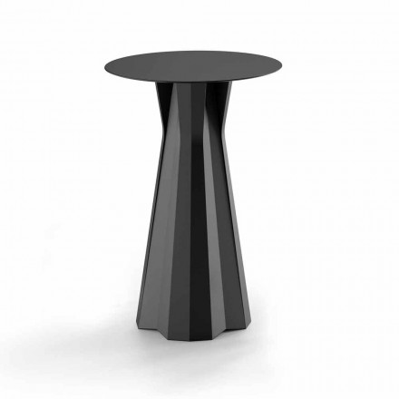 Högt polyetenbord med rund Hpl-topp Tillverkad i Italien - Tinuccia