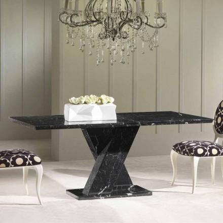 Fast bord med klassiska marmor piedestal kors Byron
