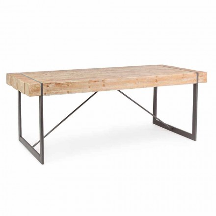 Homemotion Industrial Style Fir Wood Table - Wallie