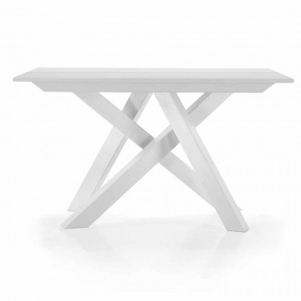 Utdragbar bordkonsol upp till 325 cm i Melamine Tillverkad i Italien - Settimmio