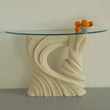 Konsolbord i Vicenza Stone, handskuren av Emera