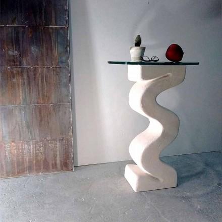 Runda bord i sten och kristall av Babylas design