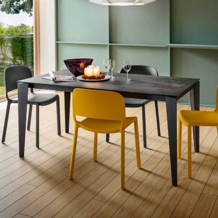Utdragbart köksbord i ädel laminamkeramik tillverkad i Italien - Efisto