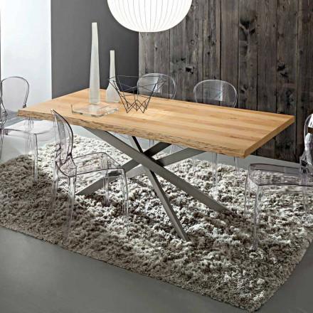 Köksbord med barkad ekskiva tillverkad i Italien - Carlino