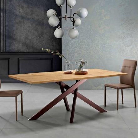 Design massivt trä matbord gjord i Italien, Dionigi