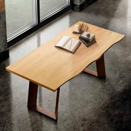 Matbord i massivt trä och metall gjord i Italien, Flora